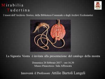 Todi: presentazione del catalogo della mostra Mirabilia Tudertina