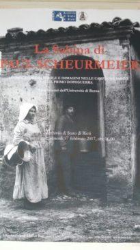 Rieti. Mostra fotografica di Paul Scheuermeier all'Archivio di Stato