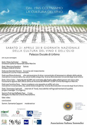 giornata nazionale del vino e dell'olio