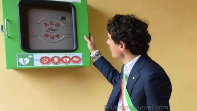 Defibrillatore al percorso verde di Pian di Massiano a Perugia