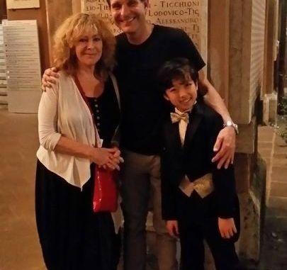 A destra Nathan Lee, giovane pianista talentuoso ospite del Music fest Perugia