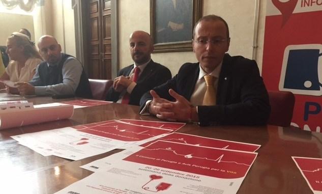 Settimana della donazione: comune di Perugia ed Avis Perugia per la vita