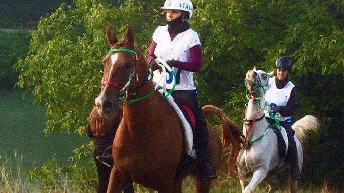 Costanza e Carolina alla Dubai Crown Prince Endurance Cup