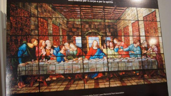 La Cena di Leonardo, l'interpretazione in vetro di un capolavoro