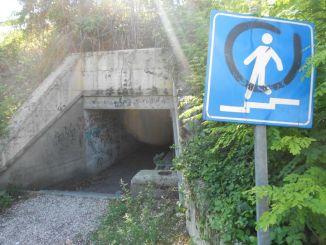 Ripulito sottopasso di Ponte San Giovanni