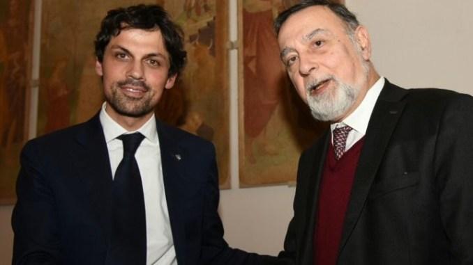 Il sindaco Andrea Romizi ha premiato il professor Romano Ugolini