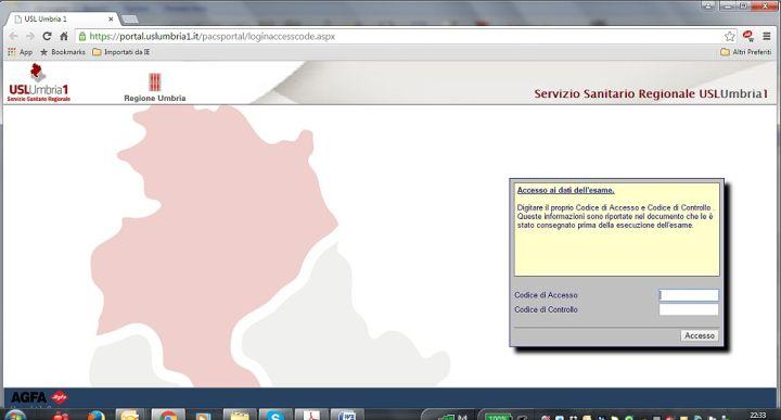 Ritiro online Referti Laboratorio - USL Umbria 1