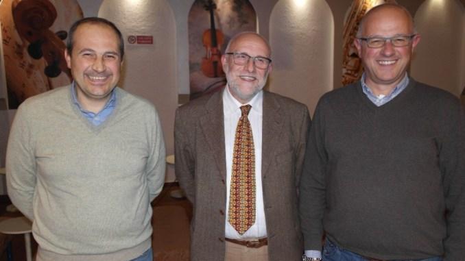 Da sinistra Valentino Pesciarelli, Enzo Tonzani, Michelangelo Pesciarelli