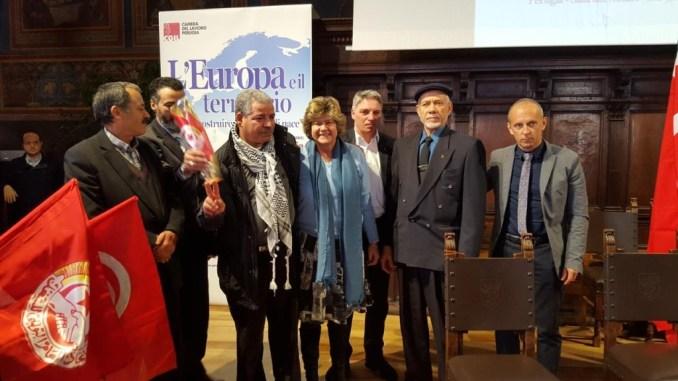 Susanna Camusso a Perugia presente sindacato tunisino Ugtt premio Nobel per la pace