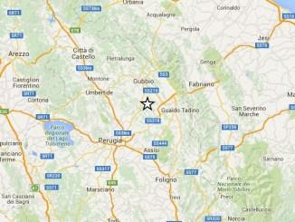 Trema ancora l'Umbria, terremoto nell'eugubino