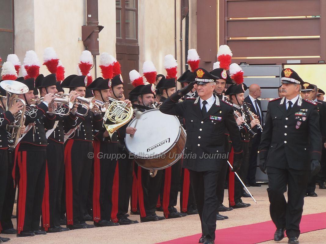 Sergio Mattarella a Perugia per inaugurazione Nucleo Carabinieri