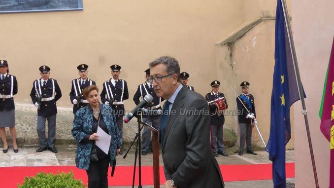 Intitolazione a Emanuele Petri, Questore Gugliotta: «Eroe di questa terra umbra»