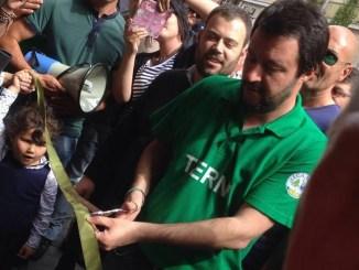 Matteo Salvini a Terni ha inaugurato la sede della Lega Nord