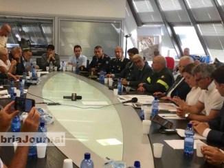 Protezione Civile riunione plenaria per terremoto nella sede regionale Foligno