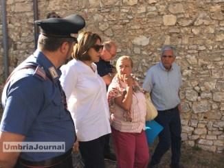Catiuscia Marini, sisma Umbria, sopralluogo presidente a Cascia