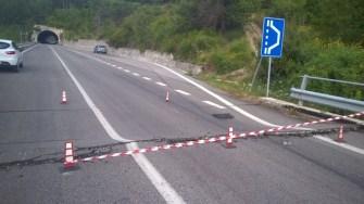 Terremoto, revocato il divieto di transito ai mezzi pesanti sulla Via Salaria