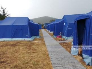 Terremoto Norcia, arrivano le prime tende, container prima di Natale