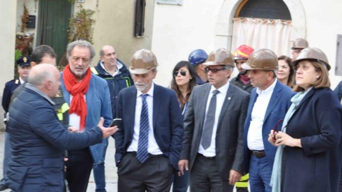 Ministro Delrio a Norcia, Marini, Governo mantenuto impegni ricostruzione