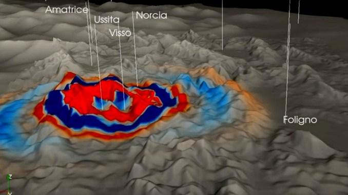 Ingv ha realizzato video propagazione onde sismiche del 26 ottobre SHAKEMOVIE