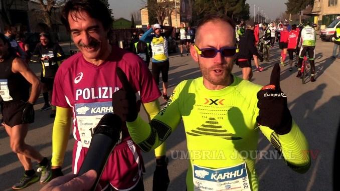 Leonardo Cenci e il Questore Francesco Messina alla Maratona di New York