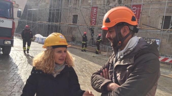 Terremoto Norcia, la senatrice Valeria Cardinali ha visitato la zona rossa