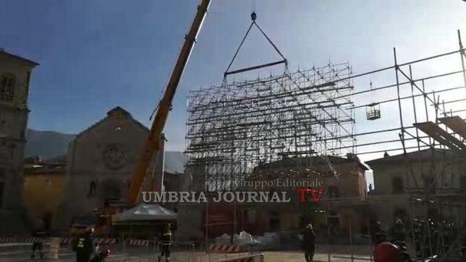 Basilica San Benedetto, cominciati lavori messa in sicurezza interna