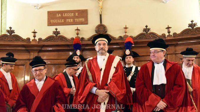 Anno giudiziario Perugia, un pensiero anche a popolazioni terremotate e a malavita