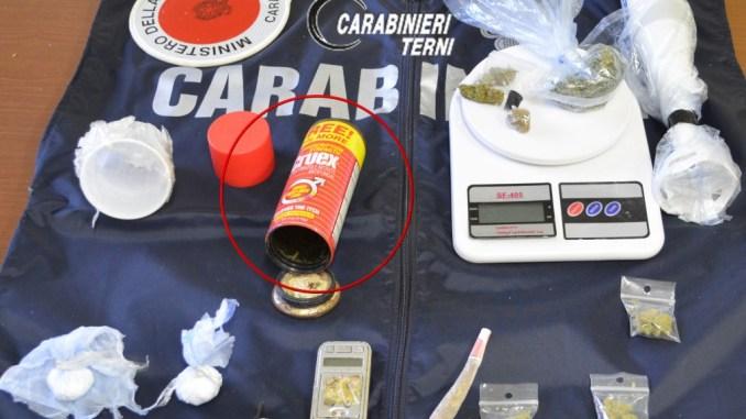 Spacciatore stato arrestato dai Carabinieri di Terni, guardate dove nascondeva la droga