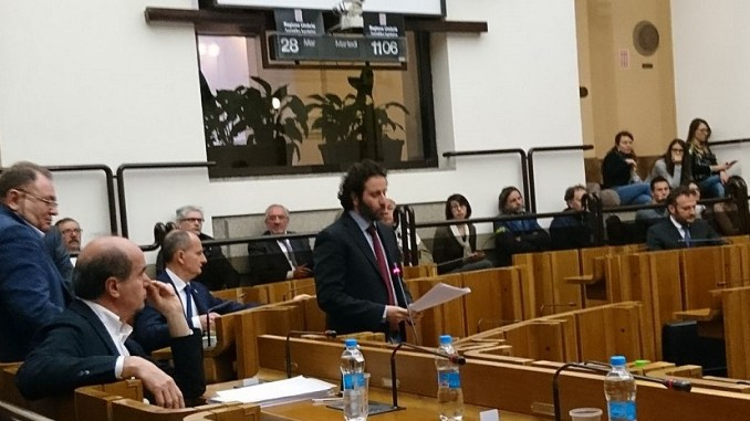 Giacomo Leonelli replica sull'interrogazione rivolta all'assessore regionale ai trasporti Giuseppe Chianella sull'alta velocità