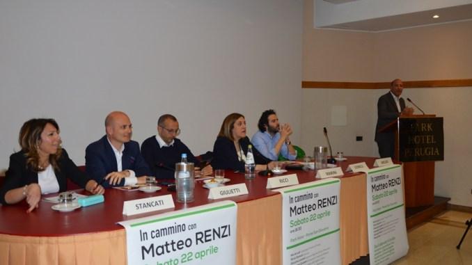 Comitato Pd Matteo Renzi a Perugia, circa duecento persone a Ponte San Giovanni