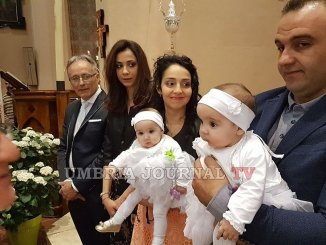 I Gemelli dell'Umbria a Rivotorto di Assisi, battesimo per gemelline Dea ed Elettra