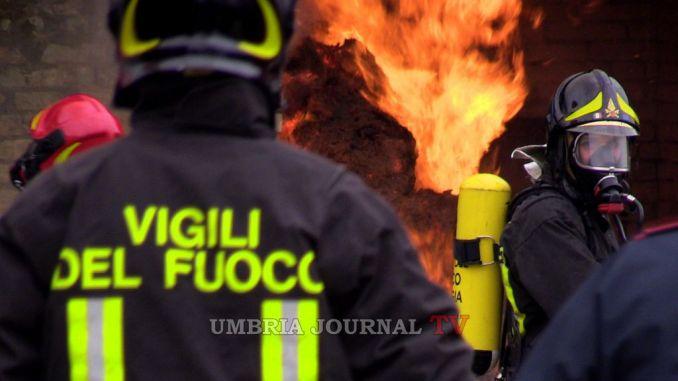 Incendi in Alto Chiascio, tra Gubbio e Gualdo Tadino
