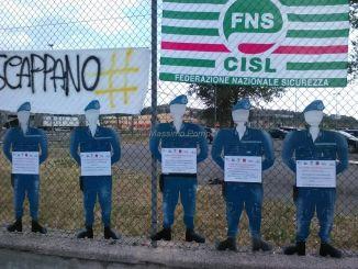 Protesta continuata della Polizia Penitenziaria al Carcere di Capanne a Perugia