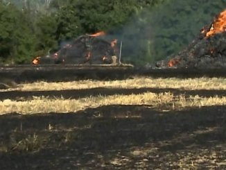 Incendio a Foligno nei pressi del centro, fiamme domate dai vigili del fuoco
