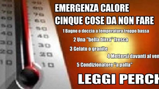 Emergenza caldo, ancora quattro giorni d'inferno, cosa NON FARE