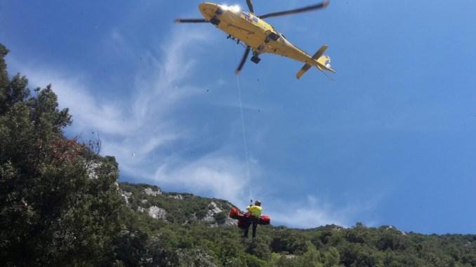 Pale di Foligno, soccorso alpino e 118 recuperano escursionista colto da malore
