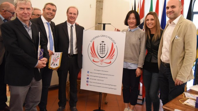 Valentina Vezzali inaugura nuova sala scherma Grifo a Perugia