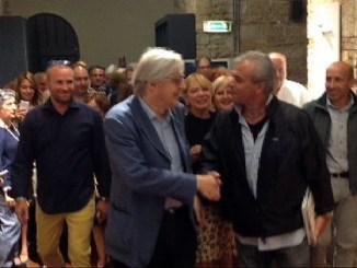 Vittorio Sgarbi inaugura la mostra d'arte IntimArte alla Rocca Paolina