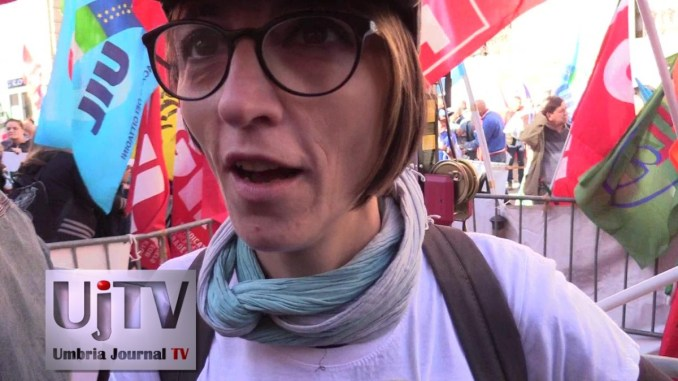 Simona Marchesi, Rsu Cgil Perugina, un popolo in difesa del lavoro