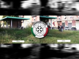 CasaPound Italia Terni bonifica Largo Manni erba e incuria di ogni tipo