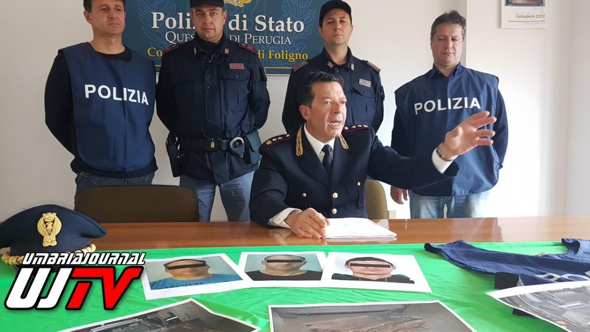Rubano rame dal viadotto della strada statale 77, tre arresti a Foligno