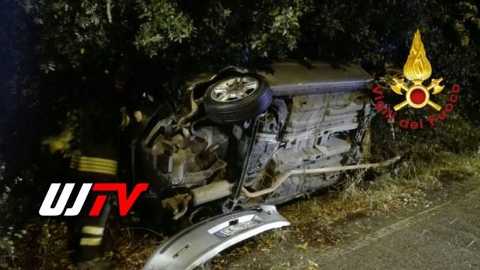 Incidente stradale nella notte a Rocca San Zenone di Terni