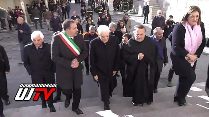 Presidente Sergio Mattarella ha visitato la Basilica di Santa Rita