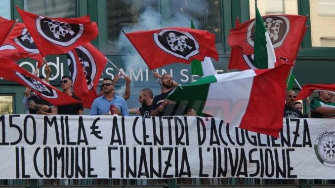 Corteo CasaPound a Ponte San Giovanni, contro anche Associazioni