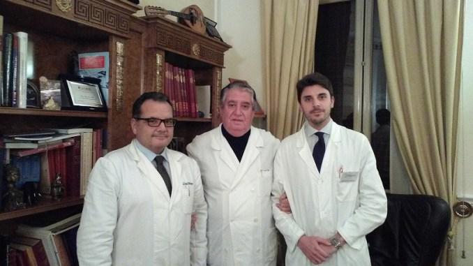 Il Professore Giovanni Alei (al centro) con i suoi collaboratori