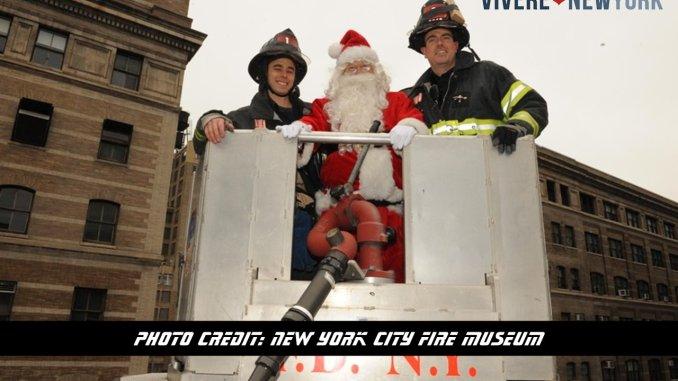 Babbo Natale salvato dai Vigili del fuoco, evento spettacolo a New York