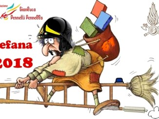 Festa della Befana, il 6 gennaio al Comando dei Vigili del Fuoco di Perugia