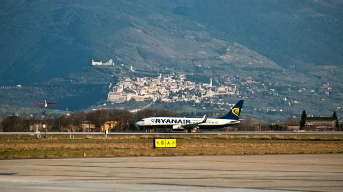 Aeroporto dell'Umbria, 26.903 passeggeri nei primi due mesi del 2018