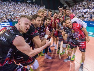 Gara 1 finale scudetto Sir Safety Conad Perugia batte Lube Civitanova
