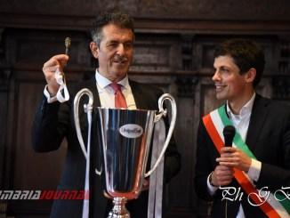 """Sir Volley giocatori e Presidente da Romizi, sono tutti """"Grifoni"""""""